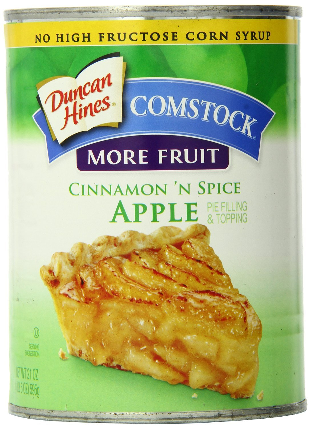 Comstock More Fruit Pie Filling & Topping, Cinnamon 'N Spice Apple, 21 Ounce