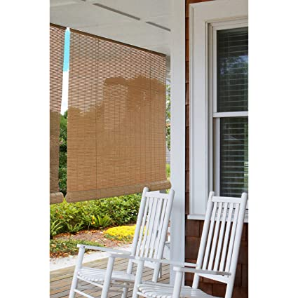 Roll Up Sun Shades >> Amazon Com Indoor Outdoor Bamboo Reed Blinds Roll Up Sun Shade