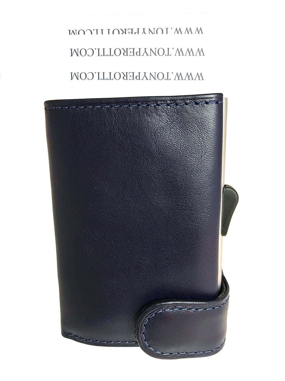 Tony Perotti TE/CC/3700BL Kreditkatenetui mit Papiergeld- und Münzfach