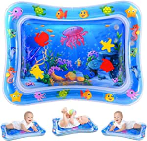 Water Play Mat, Inflatable Infant Baby Toys and Toddler Entertainment Activity Game Center, used for the growth of the brain of boys and girls, suitable for 3-12 months of BPA-free baby toys (26''x20'')