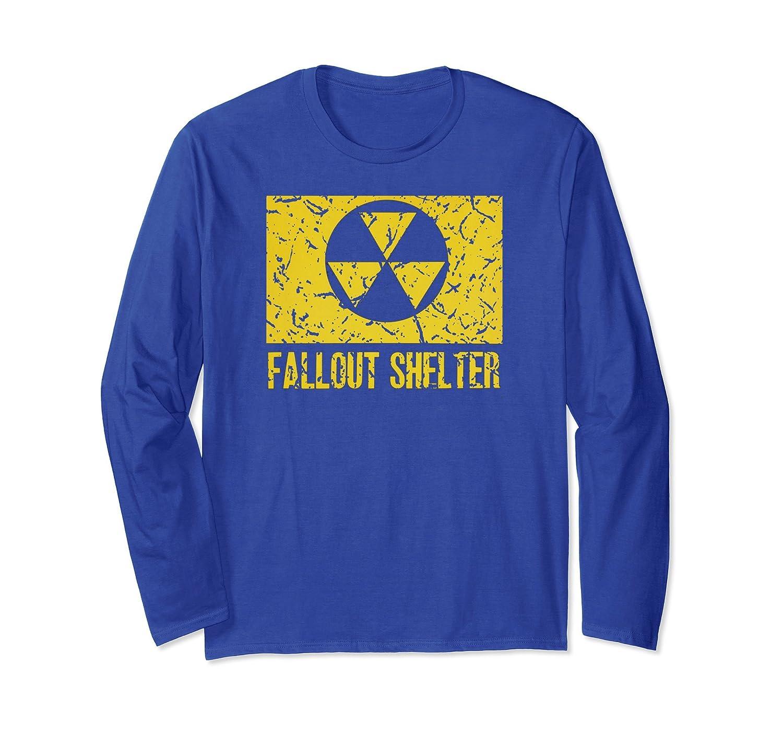 Vintage Fallout Shelter Symbol nuclear war nostalgic T-shirt-fa
