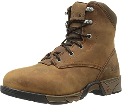 Lace-Up Aztec Steel Toe Work Boot