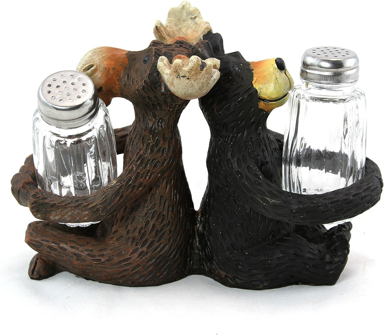 Wildlife Safari Collection Moose and Black Bear Salt /& Pepper Shakers
