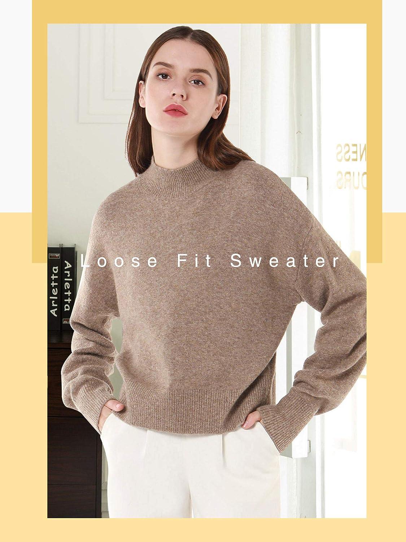 Woolen Bloom Maglione Donna Autunno Tops Felpa Ragazza Pullover Invernali Elegante Natale Tempo Libero Lavoro Top Vacanz