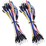 Quimat 65pcs Assorted Length Multicoloured Solderless Flexible Breadboard Jumper Cable Wires Male to Male for Arduino, Raspberry Pi Model A/Model B 1 1+ 2 3/Computer Module/Zero QY20