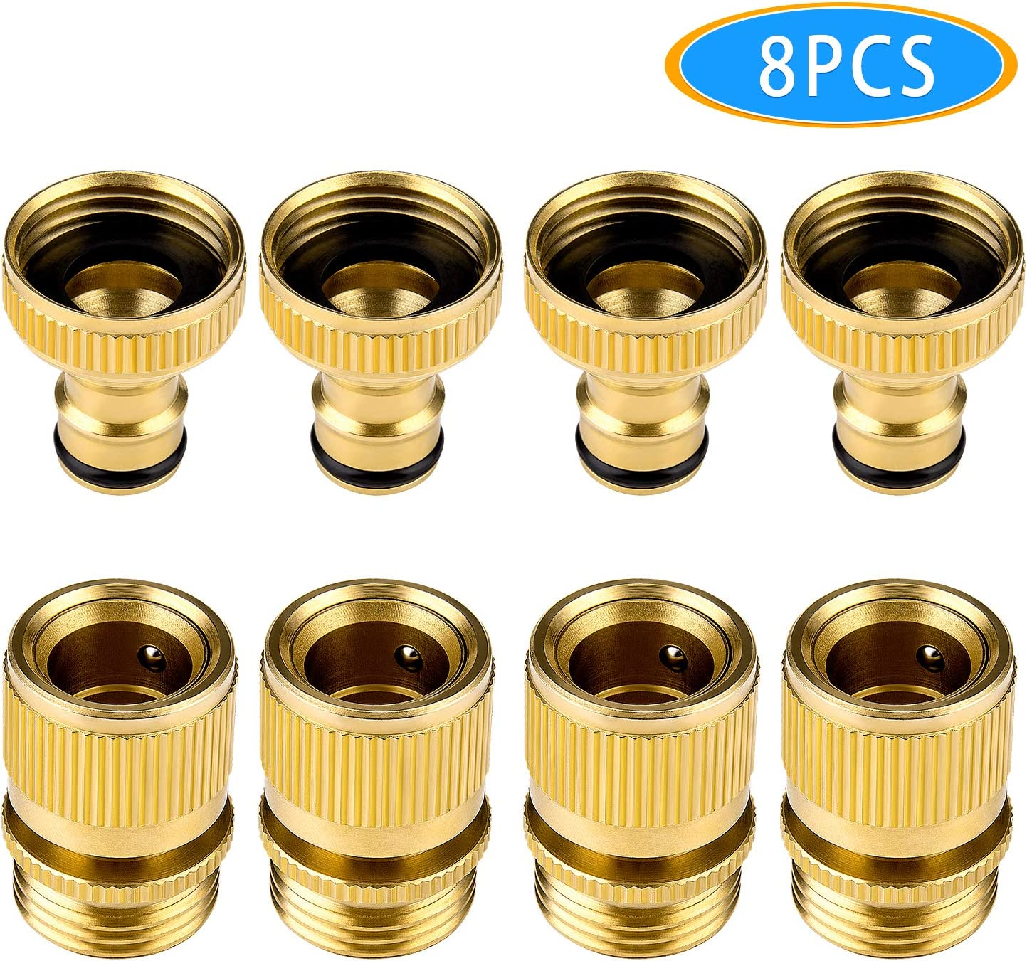 """5Pcs 3//4/"""" Threaded Tap Adapter Garden Water Hose 1//2/"""" Male Quick Connector New"""