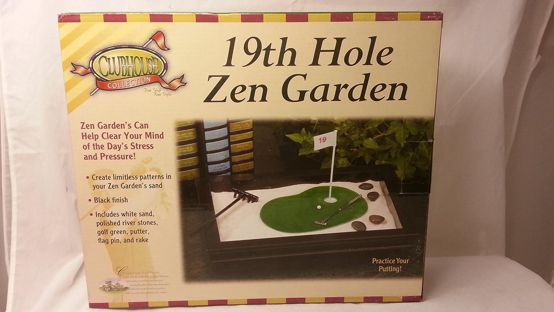 Amazon.com : Clubhouse Collection 19th Hole Golf Zen Garden, Black ...