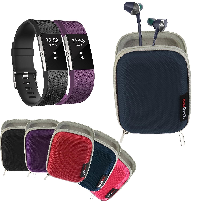 Navitech É tui Rigide/Housse Bleu pour Fitbit ace/Flex 2 / Alta/Alta HR/Charge 3 / Versa/Ionic