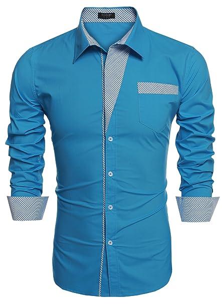 Coofandy - Camisa Casual - para Hombre: Amazon.es: Ropa y ...