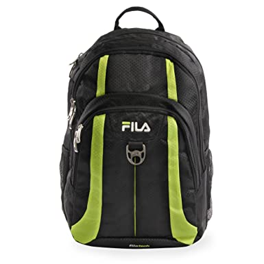 Amazon.com  Fila Edge Laptop Backpack BLACK NEON LIME One Size  Clothing