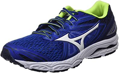 Mizuno Shoe Wave Ultima, Chaussures de Running Homme, Multicolore (White/Black/Directoireblue), 46 EU