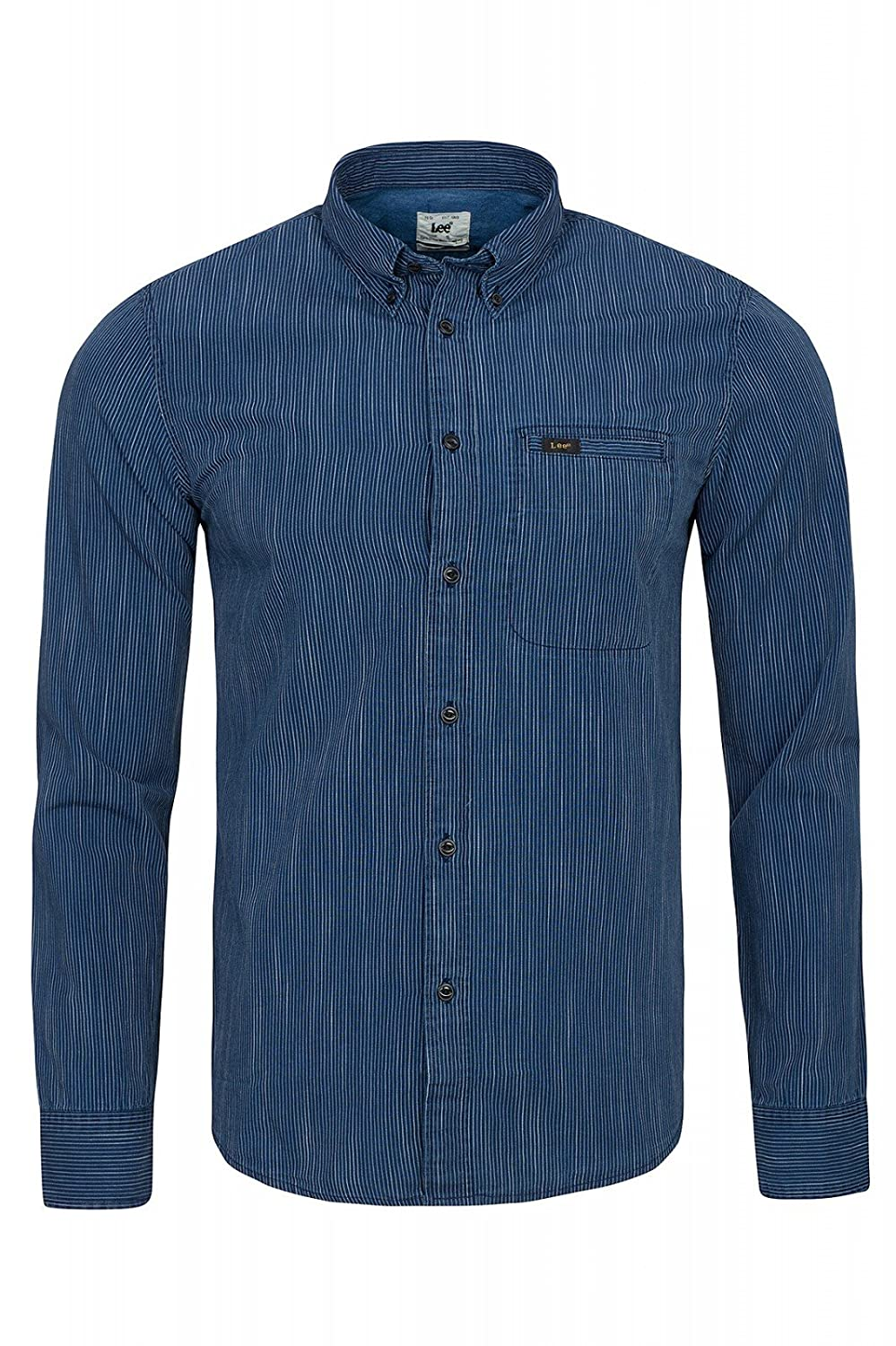 TALLA S. Lee Button Down Camisa para Hombre