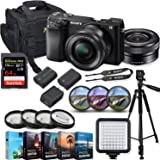Sony Alpha a6100 Mirrorless Digital Camera 16-50mm f/3.5-5.6 OSS Lens Kit + Prime Video Accessory Bundle with 64GB Extreme Pro Memory