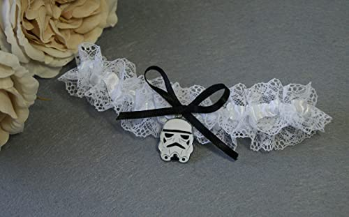 san francisco 26ee2 404cc Strumpfband schwarz weiss Star Wars Darth Vader Hochzeit ...