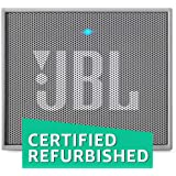 (CERTIFIED REFURBISHED) JBL GO Portable Wireless Bluetooth Speaker with Mic (Gray)