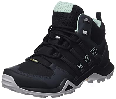 best website b5f3d 6112b adidas Damen Terrex Swift R2 Mid GTX Trekking-  Wanderhalbschuhe Schwarz Core  BlackAsh