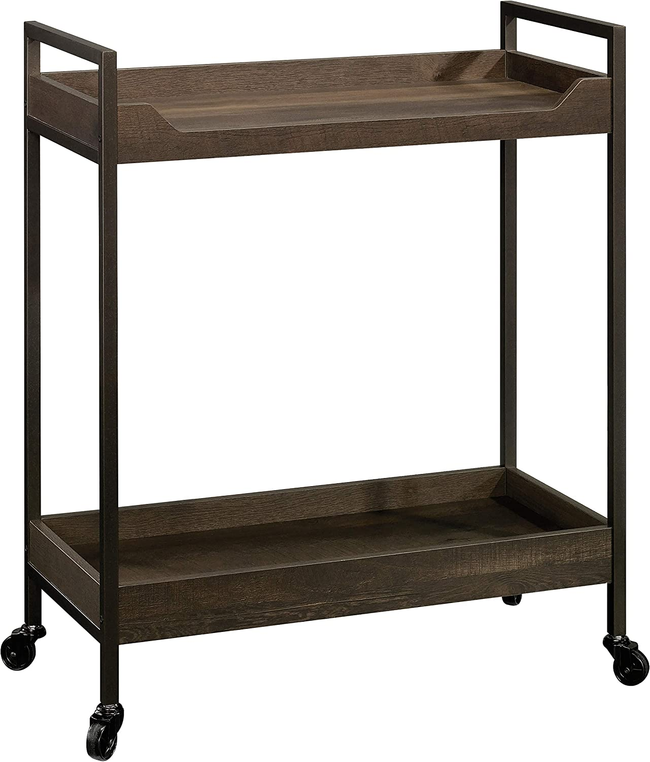 Sauder North Avenue Cart, Smoked Oak finish