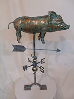 product image for Furniture Barn USA Large Handcrafted 3D 3- Dimensional Full Body Pig Weathervane Copper Patina Finish