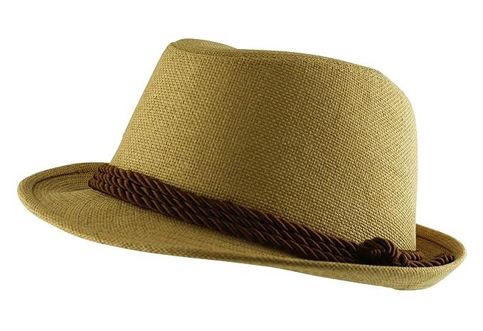 Itzu-Costume da Straw Trilby Fedora Cappello estivo 5fc8705e4dd2