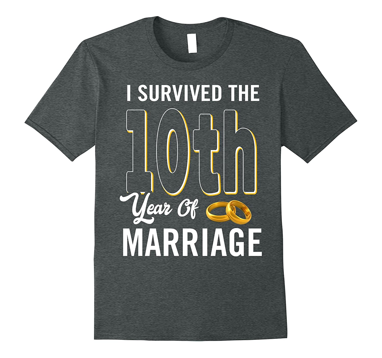 10th Anniversary Shirt I Survived The 10th Year Of Marriage