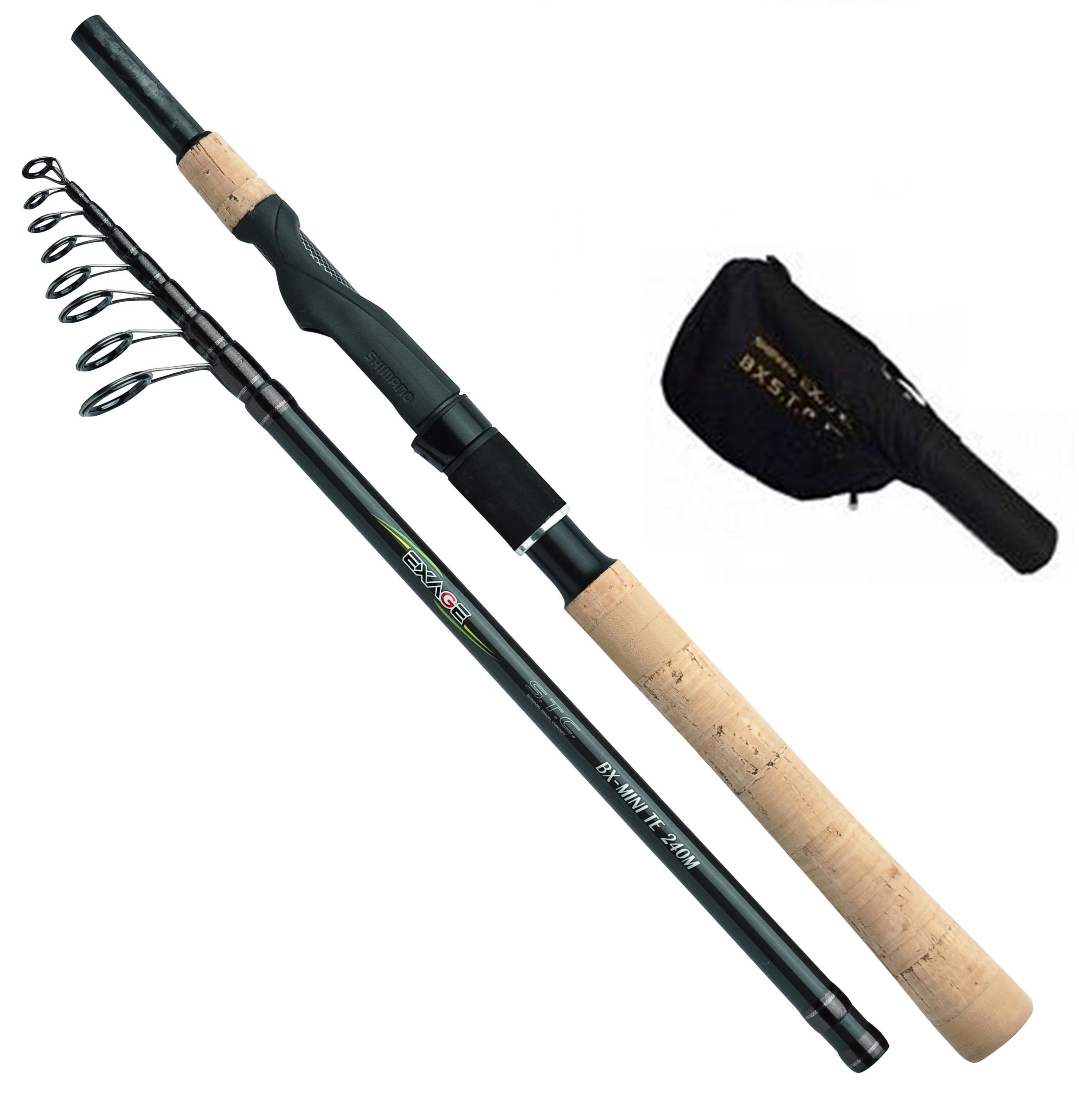 Shimano Exage BX STC Mini Tele Spinning 210 Medium, 6.9 Feet, Travel Spinning Fishing Rod, TEXBXMTS21M