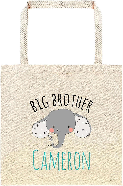 Bolso de elefante personalizado regalo para hermano mayor, regalos de hermano, bolsa personalizada, bolsa de regalo de animales safari