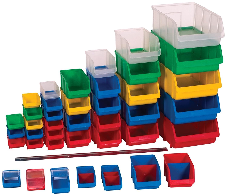 Farbe Lagerbox in Gr/ö/ße 4 Stapelbox stapelbar h/ünersdorff Sichtbox Blau