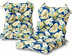 Greendale Home Fashions AZ6815S2-MARLOW Magnolia Floral Outdoor Chair Cushion (Set of 2)