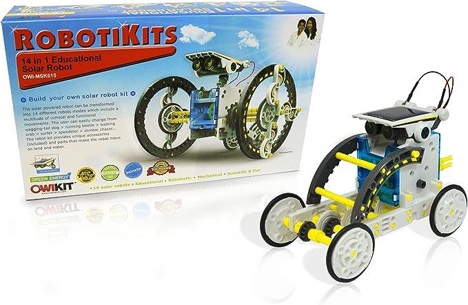 hydroglisseur avion rotatif moulin /à vent 6 en 1 Creative DIY Education Learning Power Robot solaire Kit cadeau jouet pour enfants voiture chiot avion 6in1, 3-4 Years