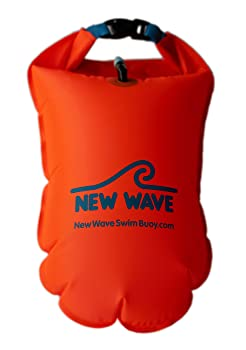 Inflatable Open Water Swim Buoy Air Dry Bag Device Buoy Tow Float Swimming