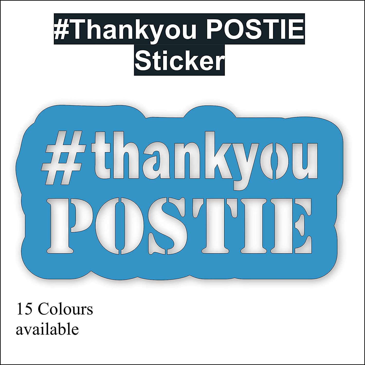 15 Colours Windows Walls Cars Decal Sticker Thank You Postie Doors