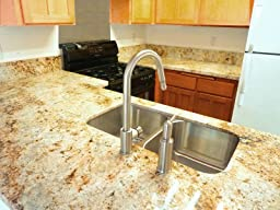 Dishwasher Countertop Gap : Air Gap Kit with Modern Soap Dispenser, Polished Chrome - Countertop ...
