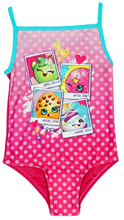 wide varieties 50% off top-rated quality Shopkins Girls Official Polka D'Lish Kooky Swimming Costume Swimsuit Sizes  from 2 to 6 Years
