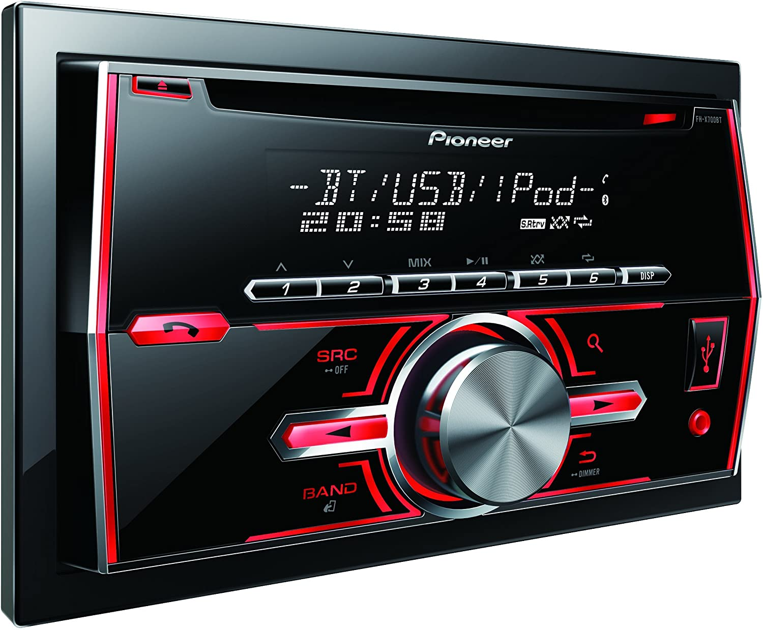 Amazon com pioneer in dash double din car stereo receiver with bluetooth fh x700bt discontinued by manufacturer car electronics