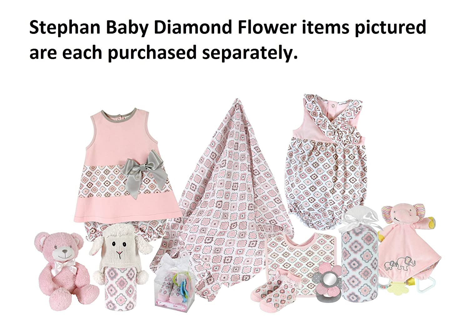 1e3e1e7a3d1 Amazon.com  Stephan Baby Bubble Romper-Style Diamond Flower Diaper Cover