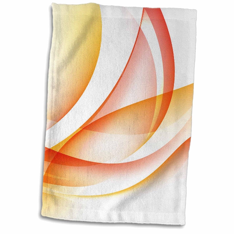 3D Rose TWL/_251720/_1 Orange and Yellow Swirls Abstract Towel 15 x 22