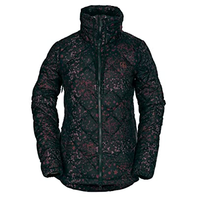 Volcom Women's Skies Down Puff Lined Snow Jacket: Clothing