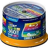 三菱化学メディア Verbatim BD-R(Video) <片面2層> 1回録画用 360分 1-6倍速 スピンドルケース インクジェットプリンタ対応(ホワイト) ワイド印刷エリア対応 VBR260RP50SV1