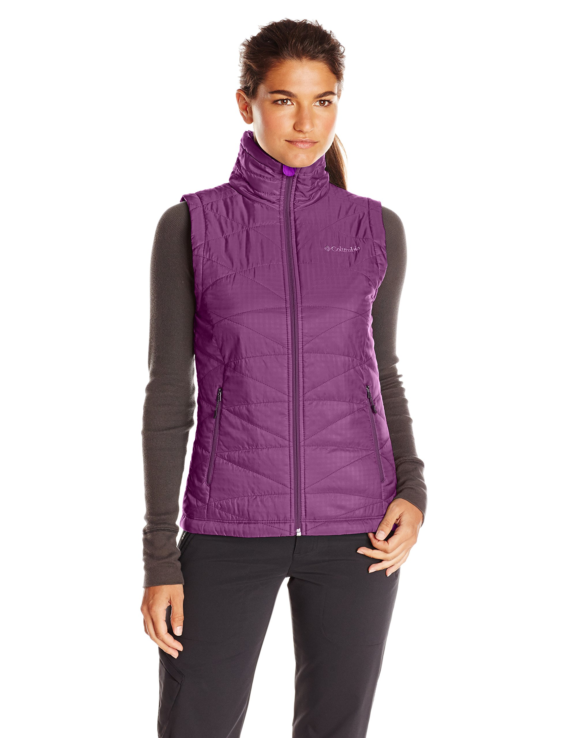 Columbia Women's Mighty Lite III Vest, Purple Dahlia, X-Large by Columbia