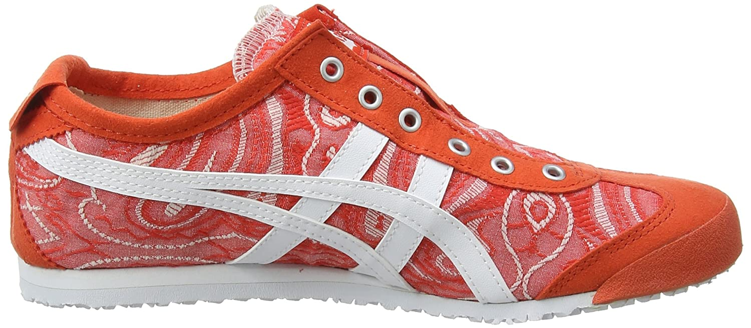 Asics Damen Onitsuka Tiger Mexico (Cherry 66 Slip-on Sneaker Rot (Cherry Mexico Tomato/Weiß 0601) 1ada74