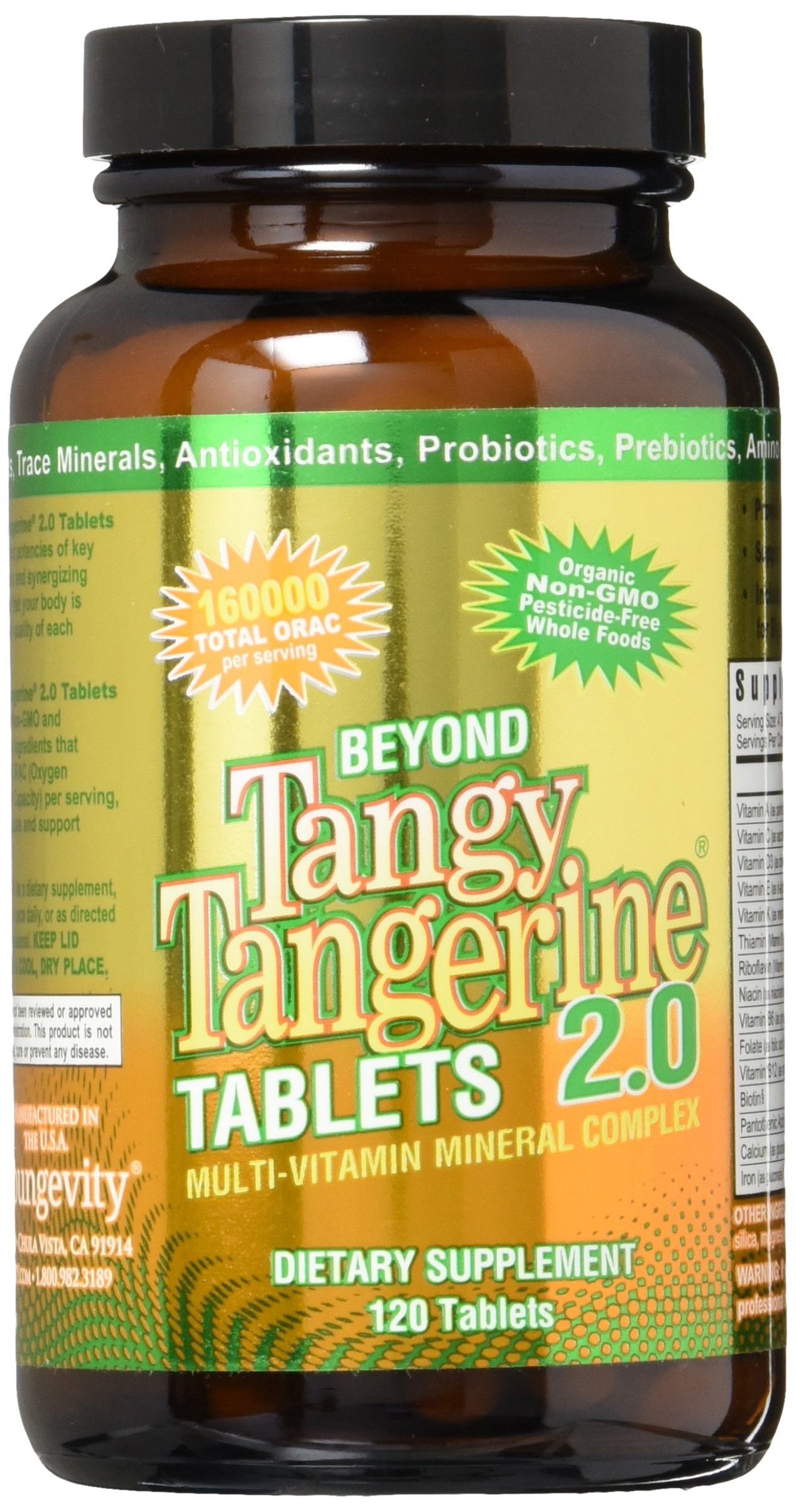 Beyond Tangy Tangerine Tablets 2.0 (120 tablets) by Youngevity