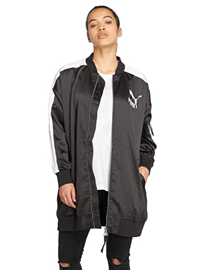 Puma Womens Archive T7 Bomber Jacket in Black: Puma: Amazon