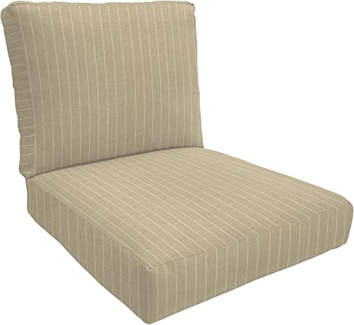 Eddie Bauer Home Deep Seating Lounge Double Piped, Small, Francois Parchment