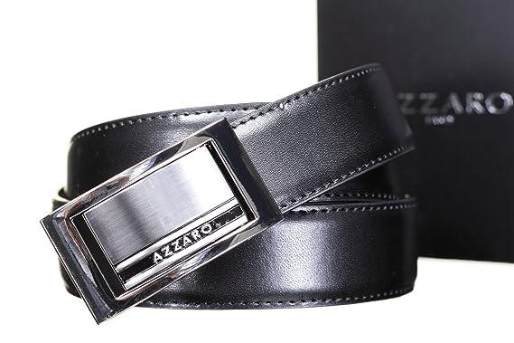 7323b3d7c04c AZZARO Ceinture 2442 Reversible Noir Marron - Couleur Noir - Taille  Ajustable