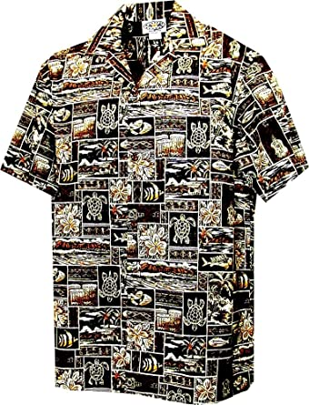 e833faa9 Hawaiian Shirts Tropical Fish at Amazon Men's Clothing store: Button Down  Shirts