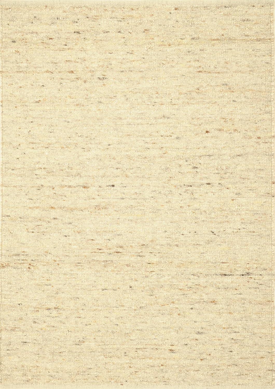 TISCA Teppich aus Schurwolle LANDSCAPE handgewebt beige (90 x 170 cm)