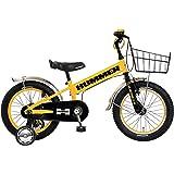 HUMMER(ハマー) KID'S16 TANK3.0-SE 16インチ 子供自転車 安定の良い極太タイヤ装着(16×3.0インチ) ステンレスフェンダー/ワイヤーバスケット標準装備 フルカバーチェーンケース 迫力満点キッズバイク 13377