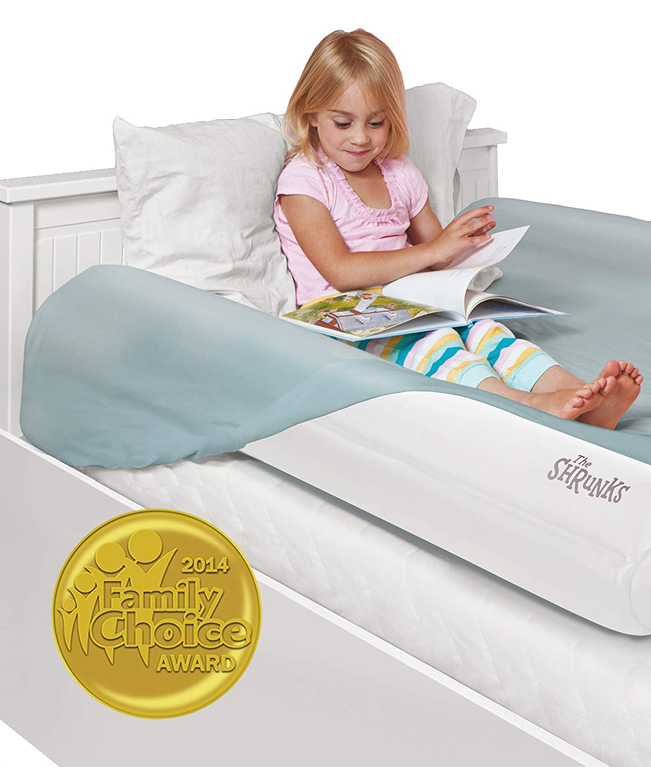 Amazon.com: Shrunks Inflatable Kids Bed Rails. Safety Side Bumpers