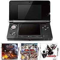 Nintendo Handheld Console 3DS - Black 3 Game Pack (Nintendo 3DS)