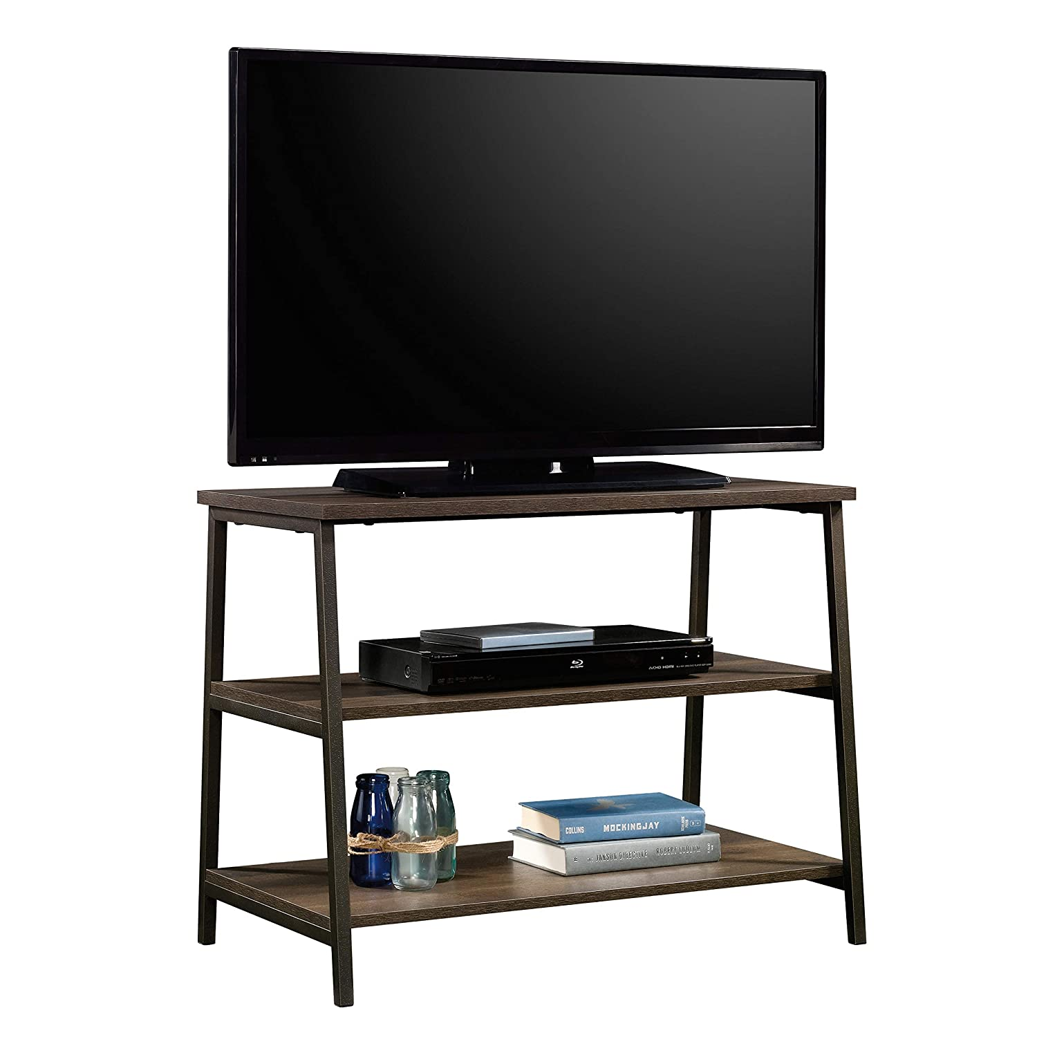Sauder North Avenue Stand, For TVs up to 36 , Smoked Oak finish